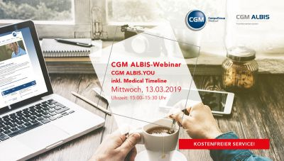 Webinar: CGM ALBIS.YOU inkl. Medical Timeline