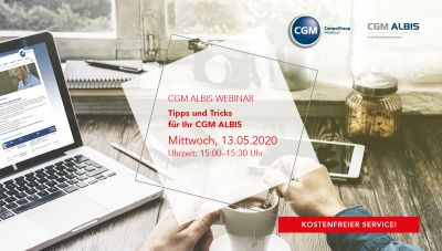 Webinar: Tipps & Tricks in CGM ALBIS
